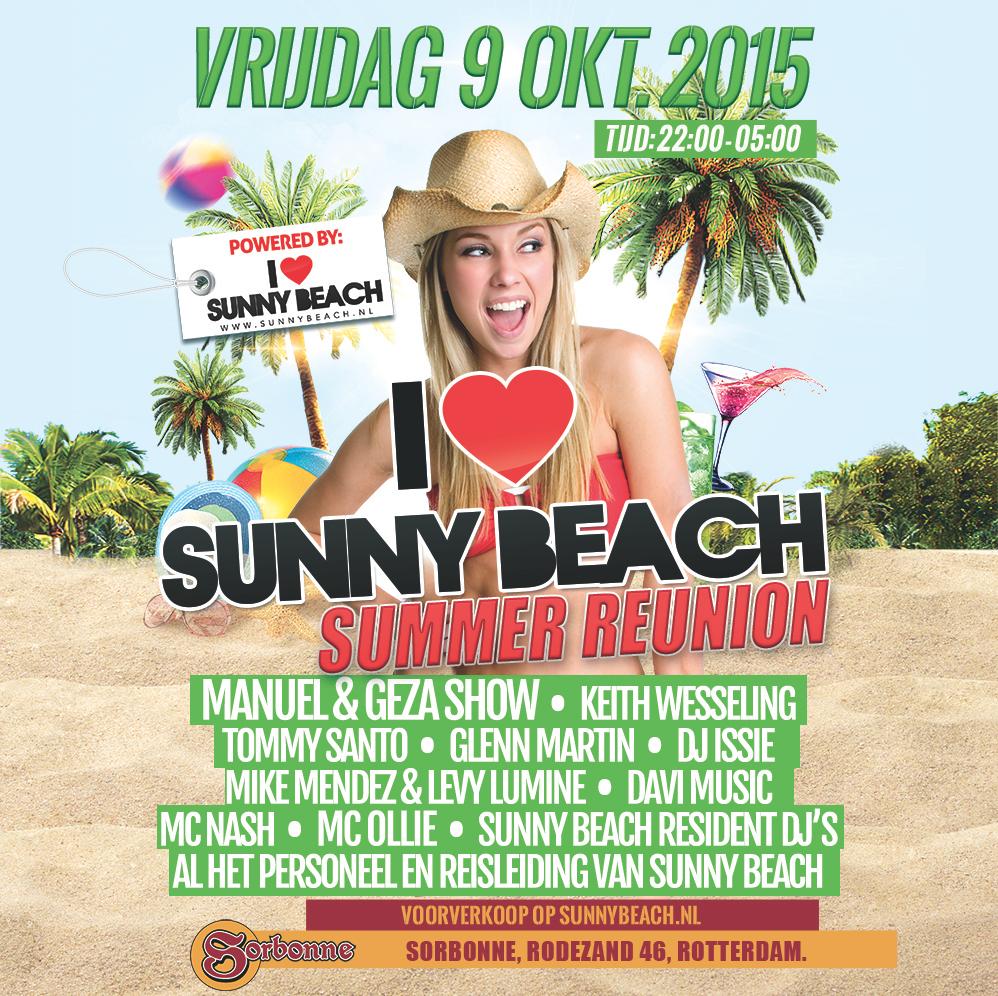 I Love Sunny Beach summer reunion 2015